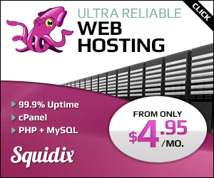 Recommended Shared Hosting Squidix